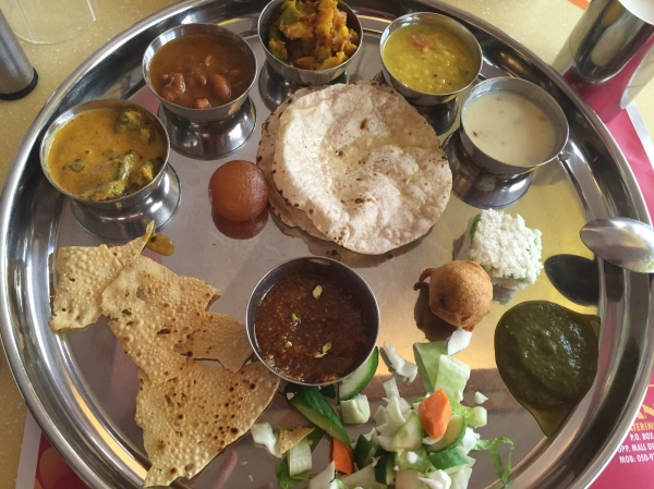 Thali at Rangoli Restaurant