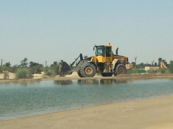 Construction at the lake